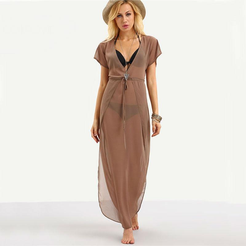 Fashion Bohemian Transparent Women's Beach Dress